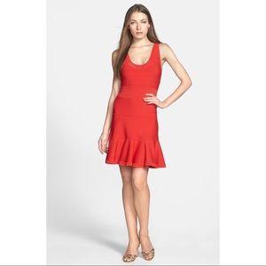 NWT Diane von Furstenberg Red Perry Flounce Dress